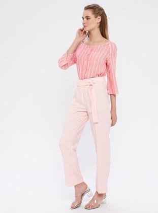 Pink - Viscose - Pants