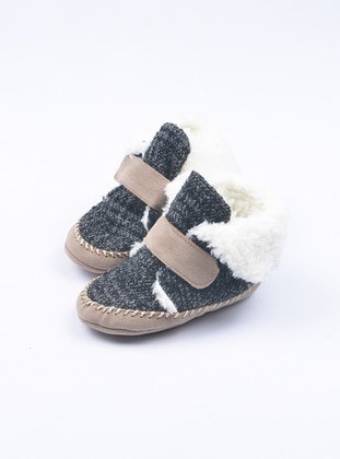 Black - Casual - Kids Home Shoes
