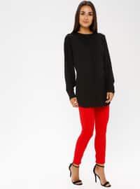 Red - Nylon - Pants