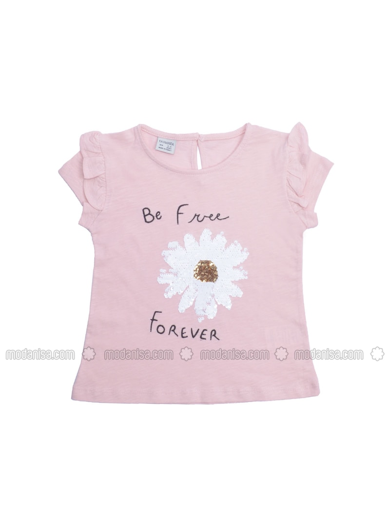 Crew neck - Powder - Girls` T-Shirt