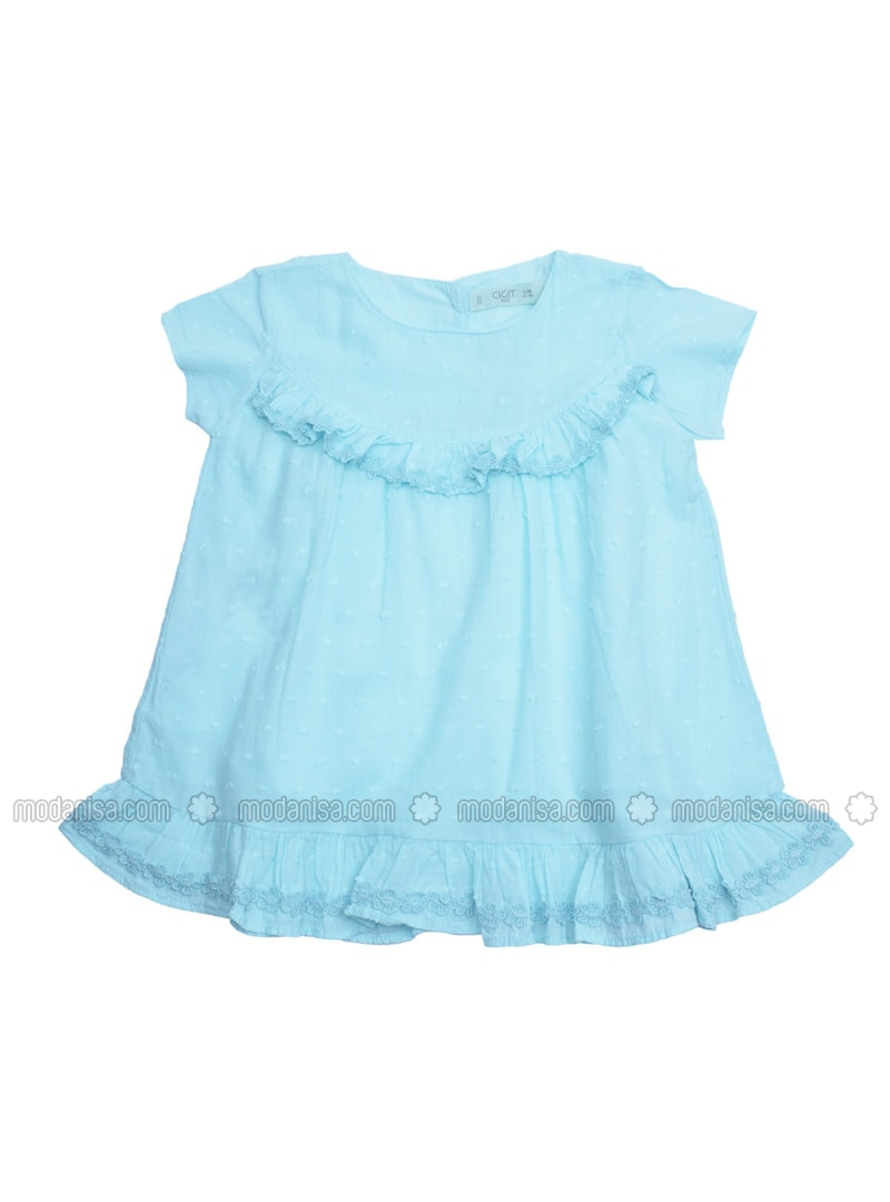 1ba8e7a43 Crew neck - Turquoise - Baby Dress