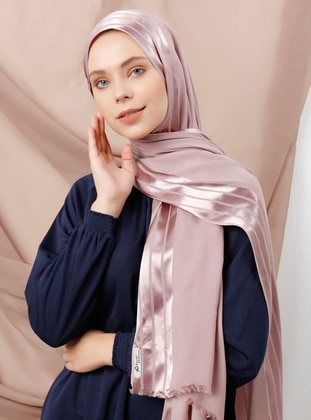 Dusty Rose - Plain - Viscose - Shawl