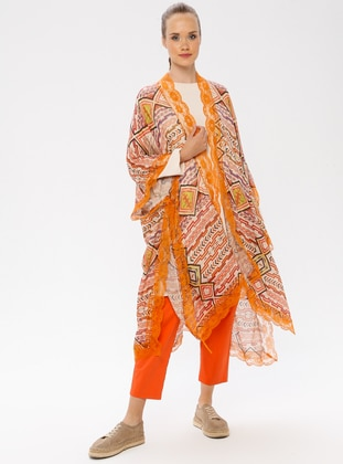 Orange - Multi - Unlined - Topcoat