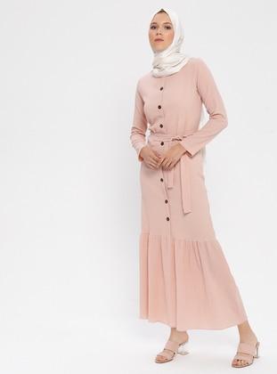 Powder - Crew neck - Unlined - Cotton - Dress