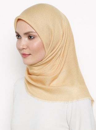 Gold - Plain - Viscose - Scarf