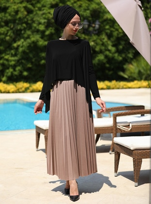 Mink - Unlined - Skirt - İnşirah