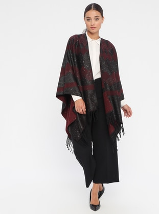Black - Multi - Unlined - Poncho