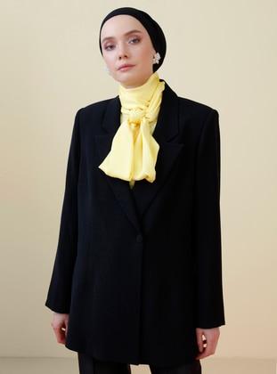 Black - Shawl Collar - Jacket