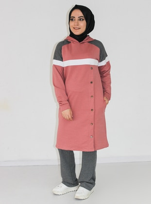 Anthracite - Dusty Rose - Tracksuit Set