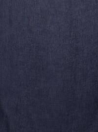 Navy Blue - Plain - Viscose - Scarf