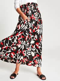 Red - Multi - Unlined - Skirt
