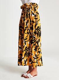 Yellow - Multi - Unlined - Skirt
