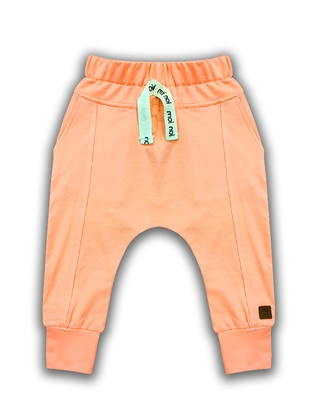Cotton - Salmon - Boys` Sweatpants