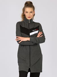 Black - Anthracite - Polo neck - Tracksuit Set