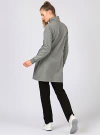 Black - Gray - Polo neck - Tracksuit Set