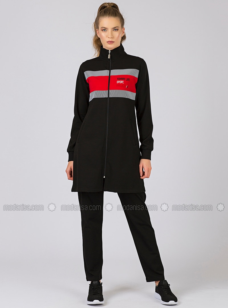 quite nice get new free delivery Black - Polo neck - Tracksuit Set
