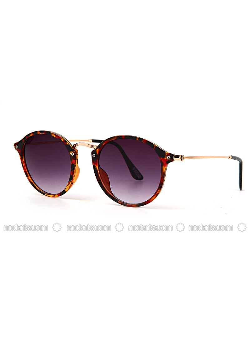 Brown - Purple - Sunglasses