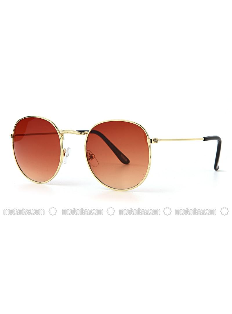 Yellow - Brown - Sunglasses