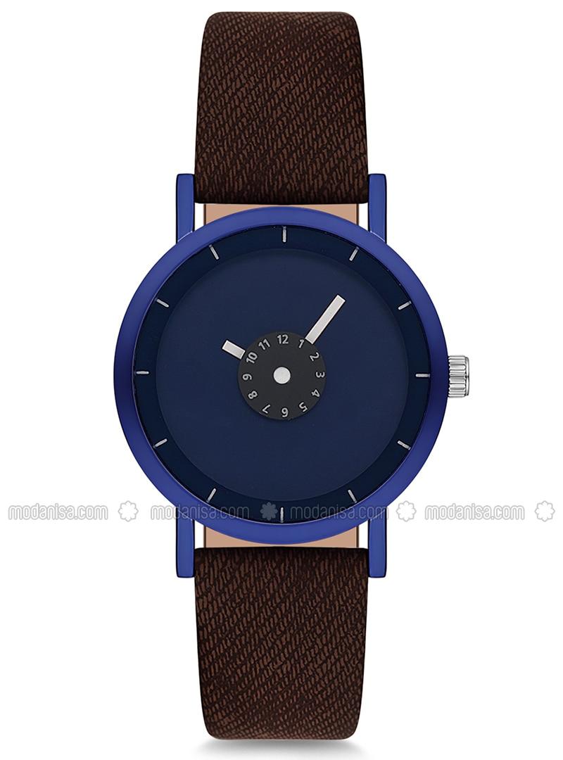 Navy Blue - Brown - Watch