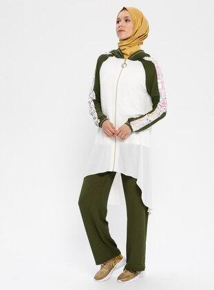 White - Ecru - Khaki - Unlined - Suit