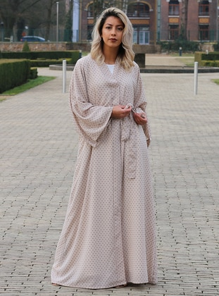 Mink - Unlined - Shawl Collar - Abaya