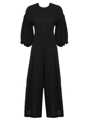 Black - Unlined - Jumpsuit