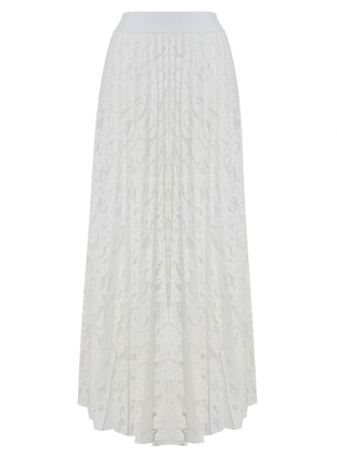White - Ecru - Fully Lined - Skirt
