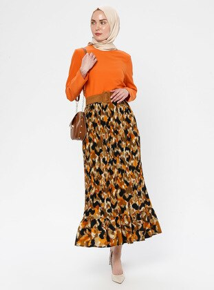 Terra Cotta - Multi - Half Lined - Skirt