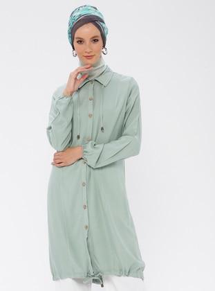 Green Almond - Point Collar - Tunic