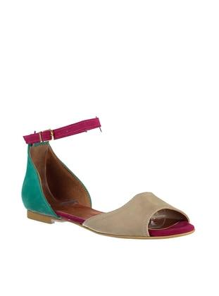 Fuchsia - Nude - Green - Sandal - Sandal