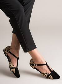 Black - Leopard - Flat - Flat Shoes