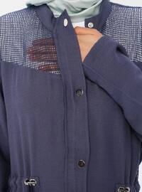 Indigo - Unlined - Button Collar - Topcoat