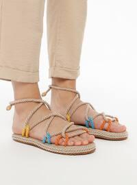 Blue - Orange - Sandal - Sandal