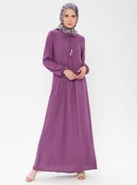 Plum - Unlined - Viscose - Dress