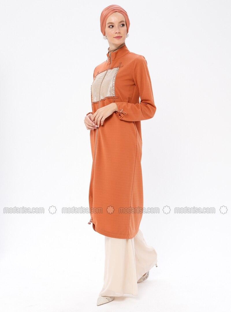 Terra Cotta - Unlined - Polo neck - Topcoat