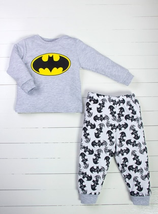 Multi - Crew neck - White - Yellow - Gray - Baby Pyjamas