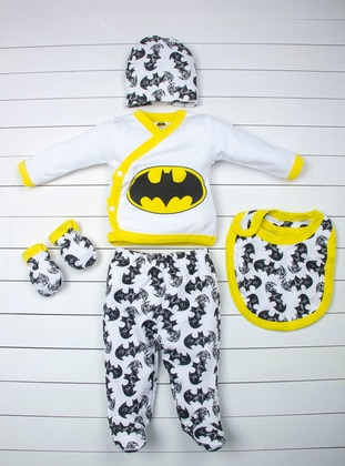 Multi - Crew neck - Black - White - Yellow - Baby Care-Pack