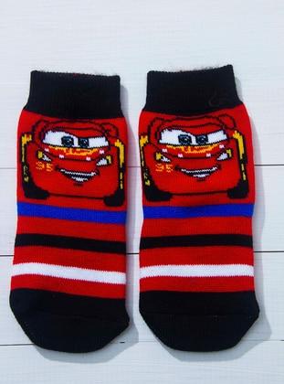 Red - Black - White - Socks
