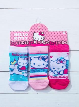 Blue - White - Pink - Socks