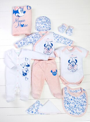Multi - Crew neck - Blue - White - Pink - Baby Care-Pack