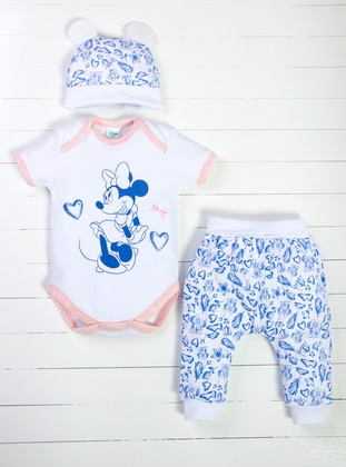 Multi - Crew neck - Blue - White - Pink - Baby Suit