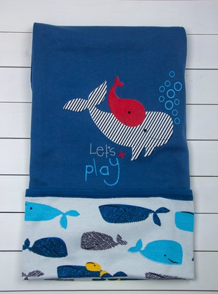 Multi - Navy Blue - Baby Home Textile