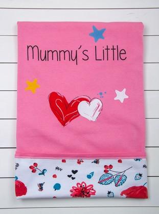 Multi - Crew neck - White - Pink - Baby Home Textile