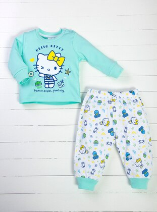 Crew neck - Green - White - Baby Pyjamas
