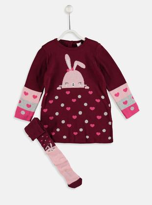 Printed - Maroon - Baby Dress
