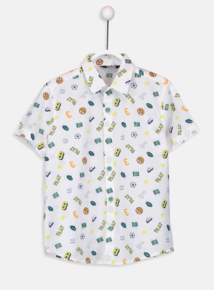 Printed - White - Boys` Shirt - LC WAIKIKI