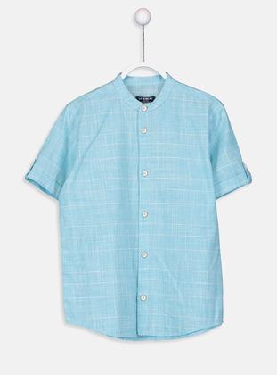 Stripe - Blue - Boys` Shirt