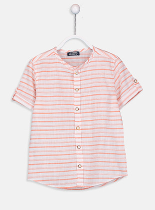 Stripe - Orange - Boys` Shirt