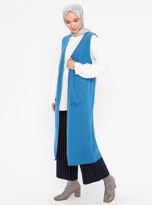 Blue - Unlined -  - Vest