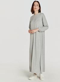 Printed - Gray - Dress